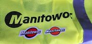 Rare Manitowoc Safety Vest And Sticker Workers Mining Union Steel Workers Lot 15