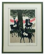 Brasilier Andre B. 1929 Hand Signed Color Lithograph