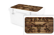 Usatuff Wrap Decal Accessories Lid Kit Fits Rtic 45 Cooler - Texas Longhorn Wood
