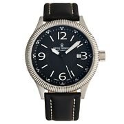 Revue Thommen Menand039s Airspeed Vintage Leather Strap Automatic Watch 17060.2527