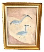 """Vintage Antique Ferris Edythe 1897-1995 Oil/board Painting """"softly Comes Winter"""""""
