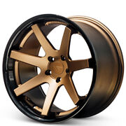 4 20x10/20x11.5 Ferrada Wheels Fr1 Matte Bronze With Gloss Black Lipb30