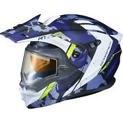 Scorpion Exo-at950 Outrigger Helmet Matte Blue Electric Sm Blue Small 95-1613-se