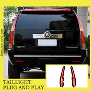 For Cadillac Escalade Led Taillights Assembly 2007-2014 Dark/red Led Rear Lamps