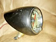 Vintage Geo W Borg Corp. Dash Car Clock Gm 1950's Gift Ford Chevy Mopar Lighted