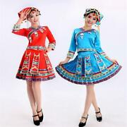 Women Traditional Miao Hmong Chinese Traditional Dress Outfit Pleated Skirt