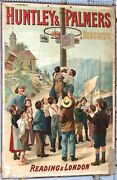 Carton Publicitaire Ancien Huntley Palmers Biscuits Reading And London Ci1890-1900
