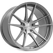 4 20x10/20x12 Staggered Rohana Wheels Rfx2 Brushed Titanium Rims B10