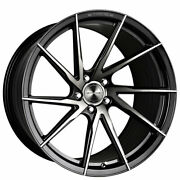 4 22 Staggered Stance Wheels Sf01 Gloss Black Tinted Face Rims B5