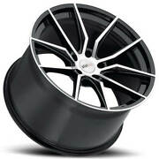 4 18/19 Staggered Cray Wheels Spider Black Rims Fit Corvette B2