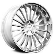 4 20 Staggered Xix Wheels X59 Silver Brushed And Ss Lip Rims B4