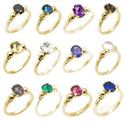 Skull Rings 4 Claw 1ct Oval Various Colours Diamond Unique 9ct Yellow Gold