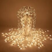Led Lighted Willow Branches Falling Faux Hanging Branch Home Holiday Party Decor