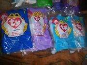 Mcdonalds Beanie Baby Happy Meal Toys .lot Of 8
