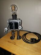 Robot Desk Lamp With 15 Amp Receptacle 3.6 Amp Usb Charging Portandnbspand Led Dimmer