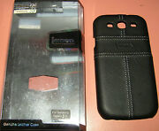 Mobo Genuine Leather Covered Hard Shell Case Samsung Galaxy S Iii, Black, New