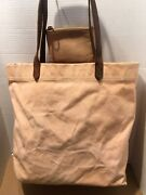 Madewell Canvas Medium Transport Tote Antique Coral With Leather Coin Purse