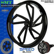Smt Machining Speed Gloss Black Front Wheel Harley Touring Bagger 21
