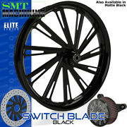 Smt Machining Switch Blade Gloss Black Front Wheel Harley Touring Bagger 21