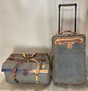 """Hartmann Vintage Tweed Carry On Set 20"""" Duffle And 22"""" Upright Wheeled Suitcase"""