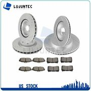 Front Rear Disc Brake Rotor And Ceramic Pads For Ford Mustang 2012-14 Drill Slot