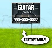 Guitar Lessons Custom Ph 18x24 Yard Sign With Stake Corrugated Bandit Usa Music