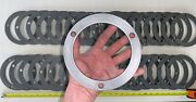 """38 Qty -massive Lot- 6"""" X 1/4"""" Thick Round Flange Metal Gasket Washer 3 Bolt"""