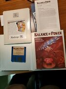 Balance Of Power Atari St 520/1040 Game Complete Mindscape 1986