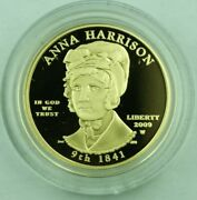 2009-w G10 Anna Harrison Us Mint First Spouse Series Gold Proof Coin