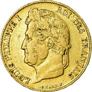 [486182] Coin France Louis-philippe 20 Francs 1840 Lille Ef40-45 Gold