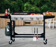 Combo Griddle Bbq Grill Flat Top Side Tables 4 Burner Hibachi Gas Teppan Outdoor