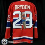 Ken Dryden Art Edition Signed Jersey Stance Hand-painted Montreal Canadiens Au