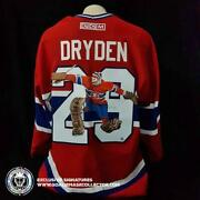 Ken Dryden Art Edition Signed Jersey Save Hand-painted Montreal Canadiens Auto