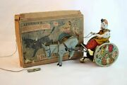Antique Germany Lehmann Balky Mule Epl 425 W/ Orig. Box Wind Up Tin Litho Toy