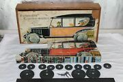 Antique German Paper Litho Block Puzzle Limo Train Truck Lorry No Tin Litho Toy