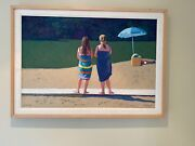 Mary Silverwood Original Oil Pastel Titled The Two Graces