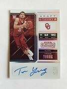 2018 Panini Contenders Draft Trae Young Rc/auto 11/25 1/1 Jersey Number