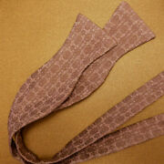 Rose Water Woven Linen And Silk Self-tie Bow Tie