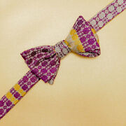 Flowers In The Light No. 1 Woven Silk Self-tie Bow Tie