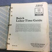1980 Buick Labor Time Guide All Series Manual Loose Leaf Binder
