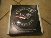 1958-62 Chevy Corrvette Nos Rear Emblem With Mounting Pieces