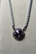Sabika Glamazon 1-stone Grace Necklace Crystal Antique Pink-new-retired-f/w 2012