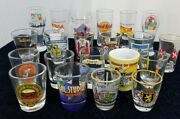 Lot Of 21 Shot Glass Square Athens Genuine World Travelerand039s Collection