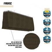 Brown Roman Sail Shade-wave Canopy Cover-retractable Outdoor Patio Awning
