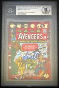 Stan Lee Signed Auto Age Of Ultron Avengers Ud Upper Deck Aou-sl Bgs Not Psa 10