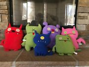 Great Christmas Gift Ugly Dolls Lot 7 Dolls With Bag Soft Plush Stuffed Animals