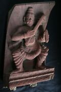 Religious Wooden Carving Panel Figure 1900s Collectible Antique Genuine Figures