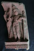 Sculpture Antique Wooden Carving Religious Figure 1900 Panel Wood Collectible