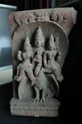 Antique Wooden Carving Religious 1900 Panel Wood Figure Rare Collectible Murti