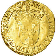 [486354] Coin France Louis Xiii Ecu Dand039or 1632 Rouen Ef40-45 Gold